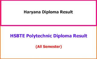 Haryana Diploma Result 2021