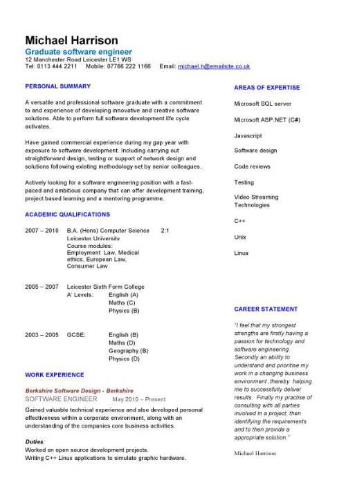 Engineer phd resume