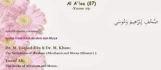 Surah Al-A`la Ayat 19 - Suhuf Nabi-nabi Nuh, Ibrahim, Musa, Isa Dalam AlQuran
