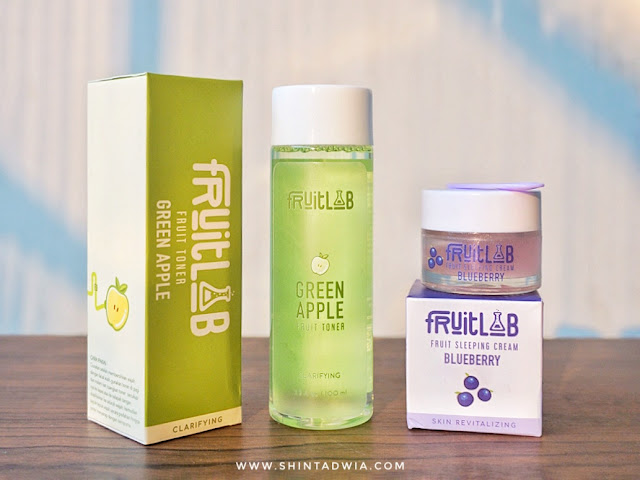 Review Fruitlab Toner Green Apple dan Fruit Sleeping Cream Blueberry