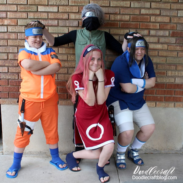 Are you a fan of Naruto? My kids love the show and did a fun cosplay fan convention with their friends about a year and half ago. I'm sharing it now to inspire cosplay ideas for Halloween, since conventions are all but virtual these days. 2 of my kids and their friends cosplayed as Naruto characters.