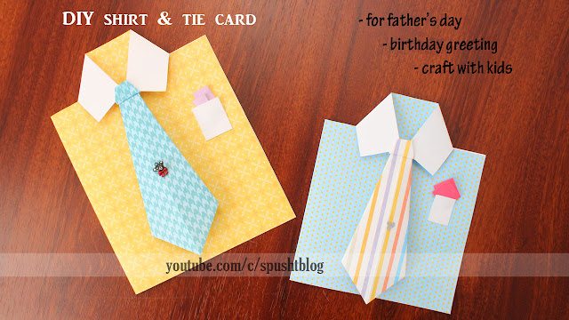 DIY shirt and tie card fathers day birthday