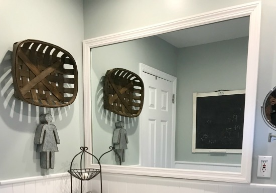How to Add a Frame to a Bathroom Mirror