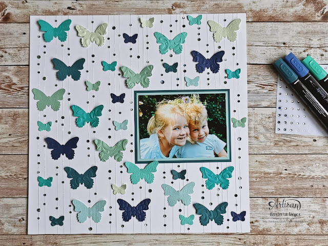 Stampin' Up! Demonstrator Barbara Meyer; Layout