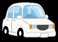 白の自動車のイラスト