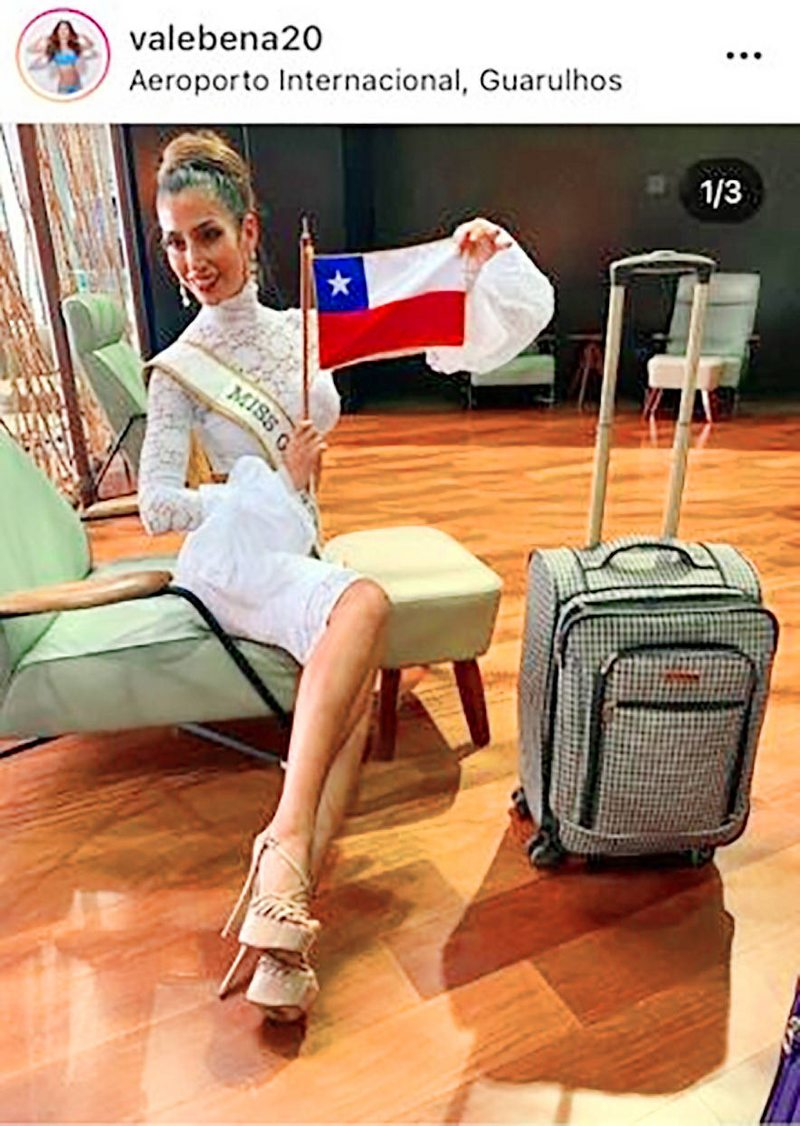 Miss Grand Chile viajó casi 40 horas con tacos de 16 cms