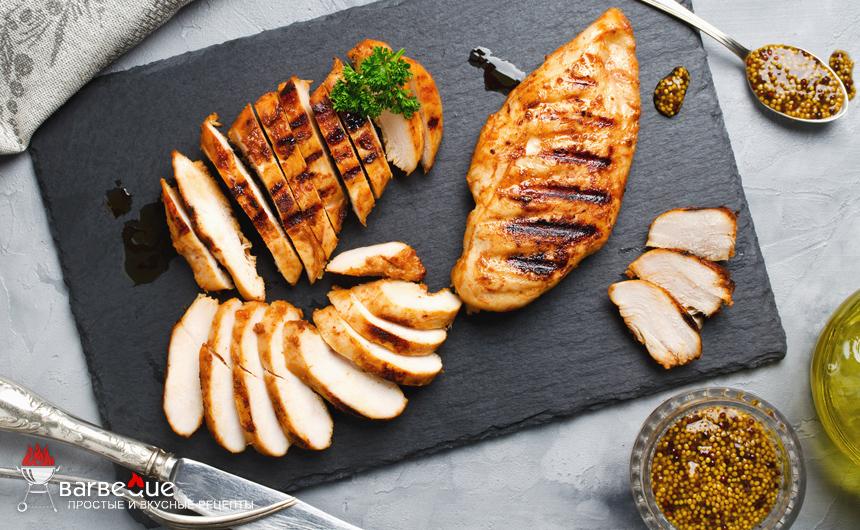 Куриное филе, приготовленное на гриле