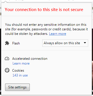 gambar your connection to this site is not secure