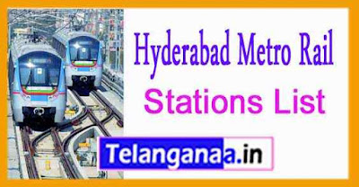 HMR Hyderabad Metro Rail Stations Map List of Metro Stations in Hyderabad Telangana Metro Rail