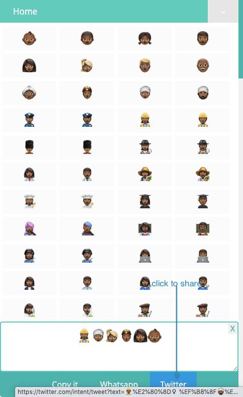 How to Share Dark Brown Emojis On Twitter?