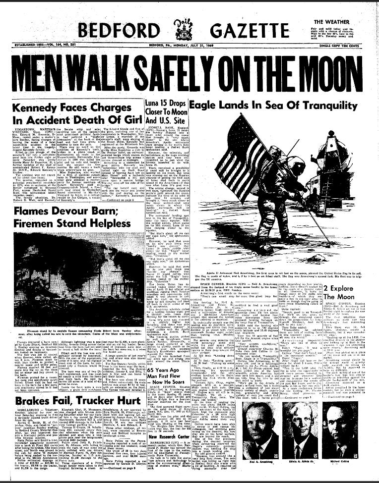 moon landing newspaper article - photo #2