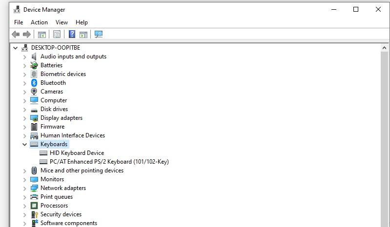 Driver Keyboard pada Device Manager Windows