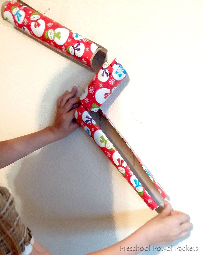 Wrapping Paper Cardboard Tube Marble Run STEM Challenge | Preschool ...