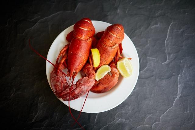 aprende ingles animal langosta lobster color naranja