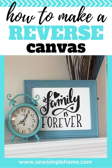 Follow along with this easy DIY step by step tutorial on how to make a reverse canvas using vinyl and cutting on your Cricut Maker or Silhouette cutting machine.