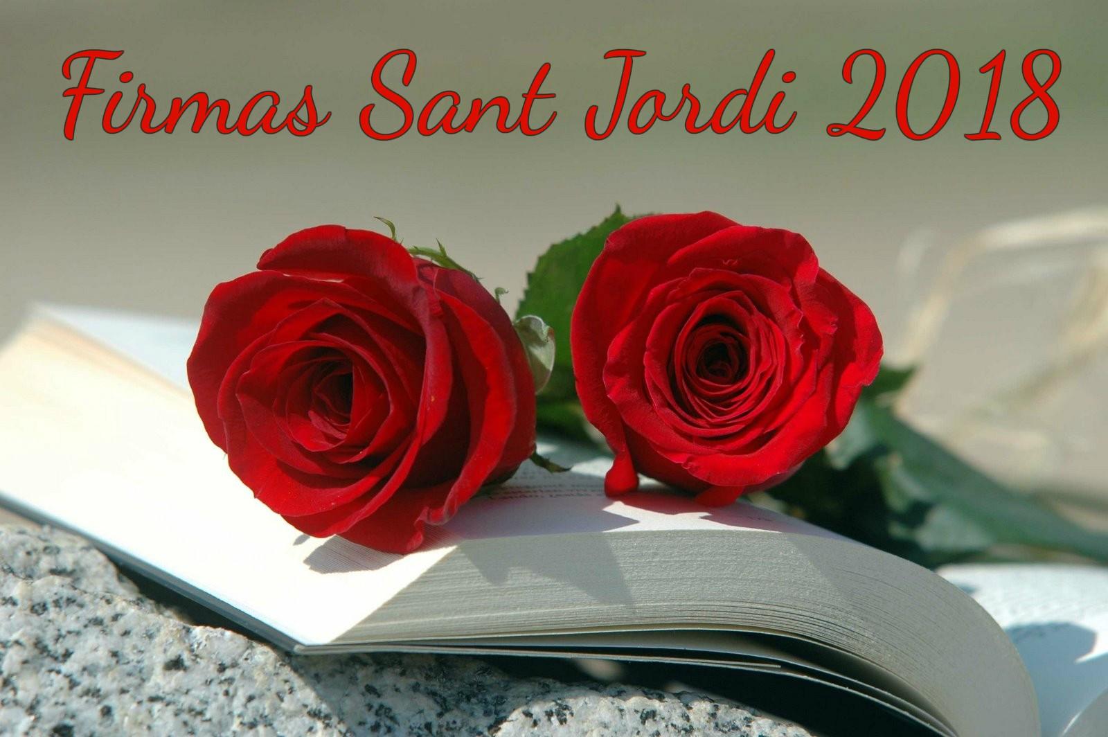 FIRMAS DE SANT JORDI 2018
