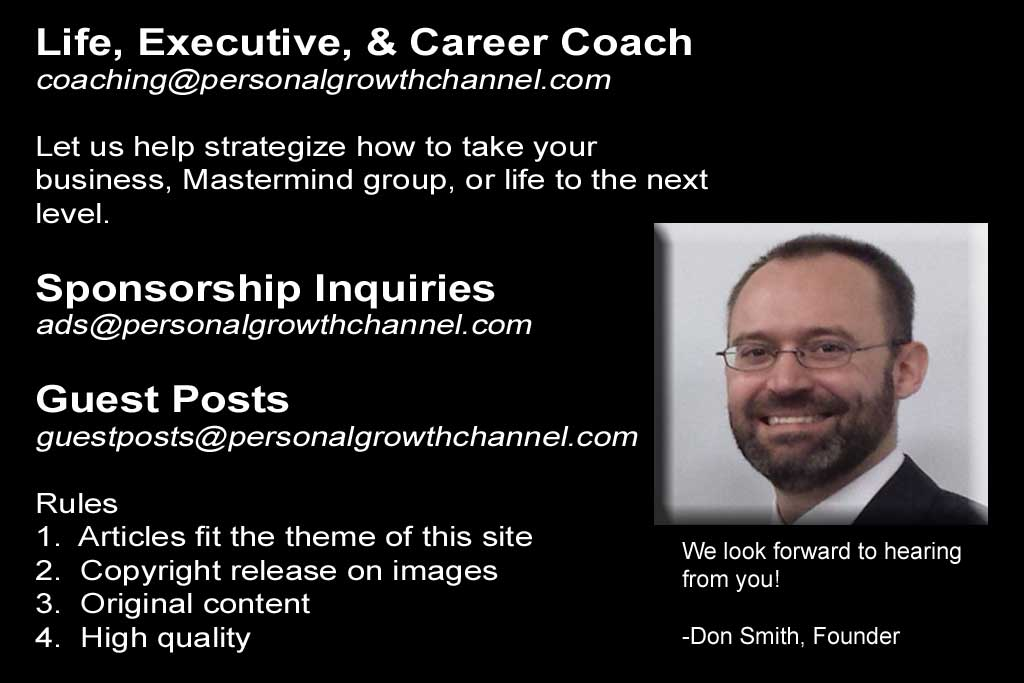 Contact The Personal Growth Channel - Life, Executive, and Career Coaching