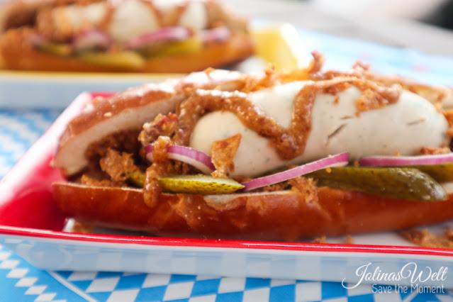 bayrischer Weisswurst Hotdog