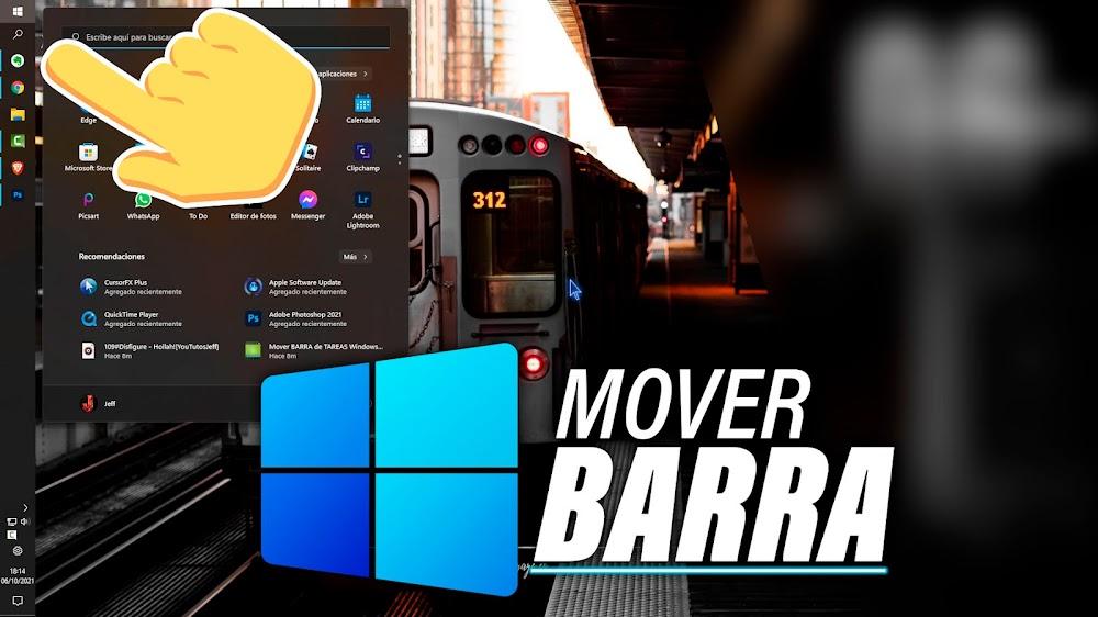 Mover BARRA de TAREAS Windows 11 Donde Quieras