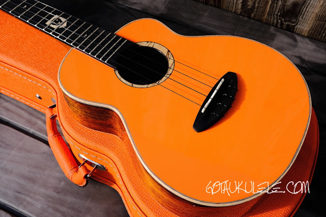 aNueNue Lion Orange UT Ukulele body