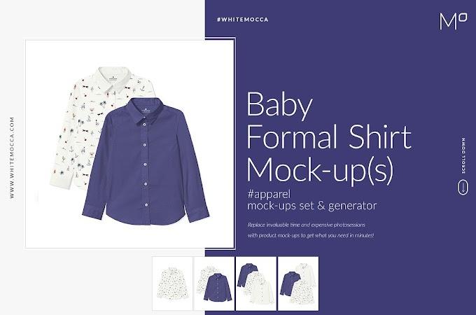 Baby Formal Shirt Mock-ups Set[Photoshop][4543370]
