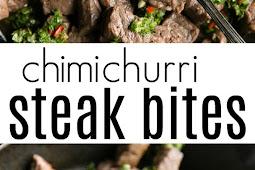 Chimichurri Steak Bites