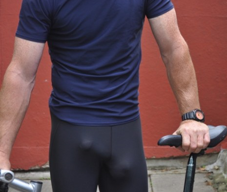 compression shorts bulge