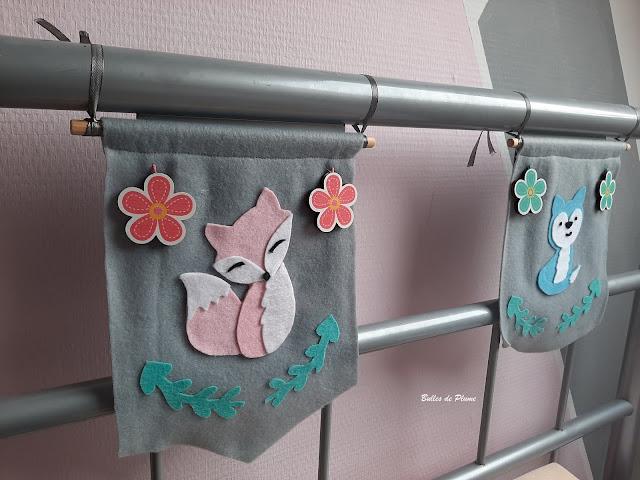 Bulles de Plume DIY Fanions animaux feutrine (Déco)
