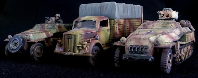 1/56 Panzer Lehr Truck Halftrack Half Tack 251/10 251/1