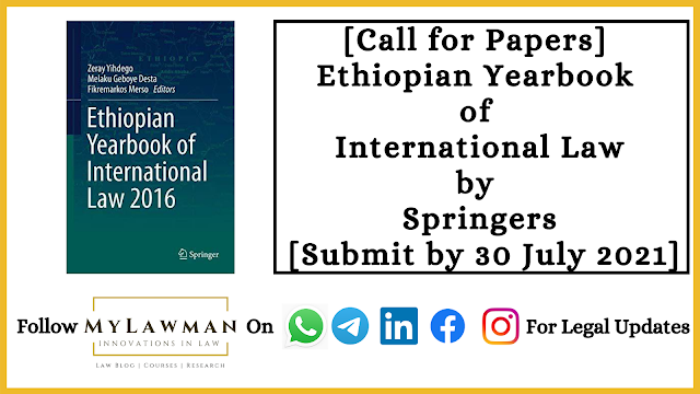 [Call for Papers] Ethiopian Yearbook of International Law by Springers [Submit by 30 July 2021]