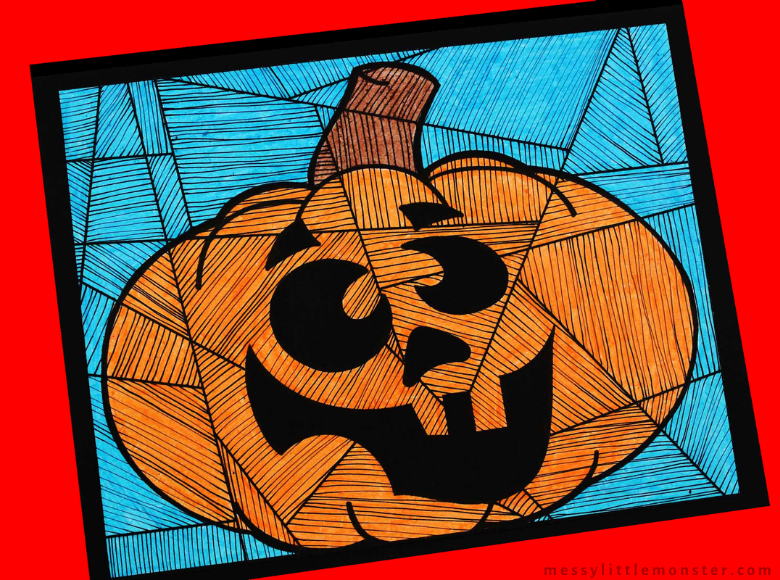 Pumpkin Colouring Page Line Study