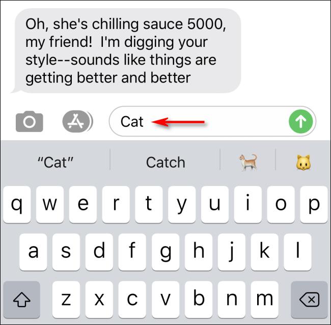 اكتب الرسائل لرؤية بحث الرموز التعبيرية النصية التنبؤية
