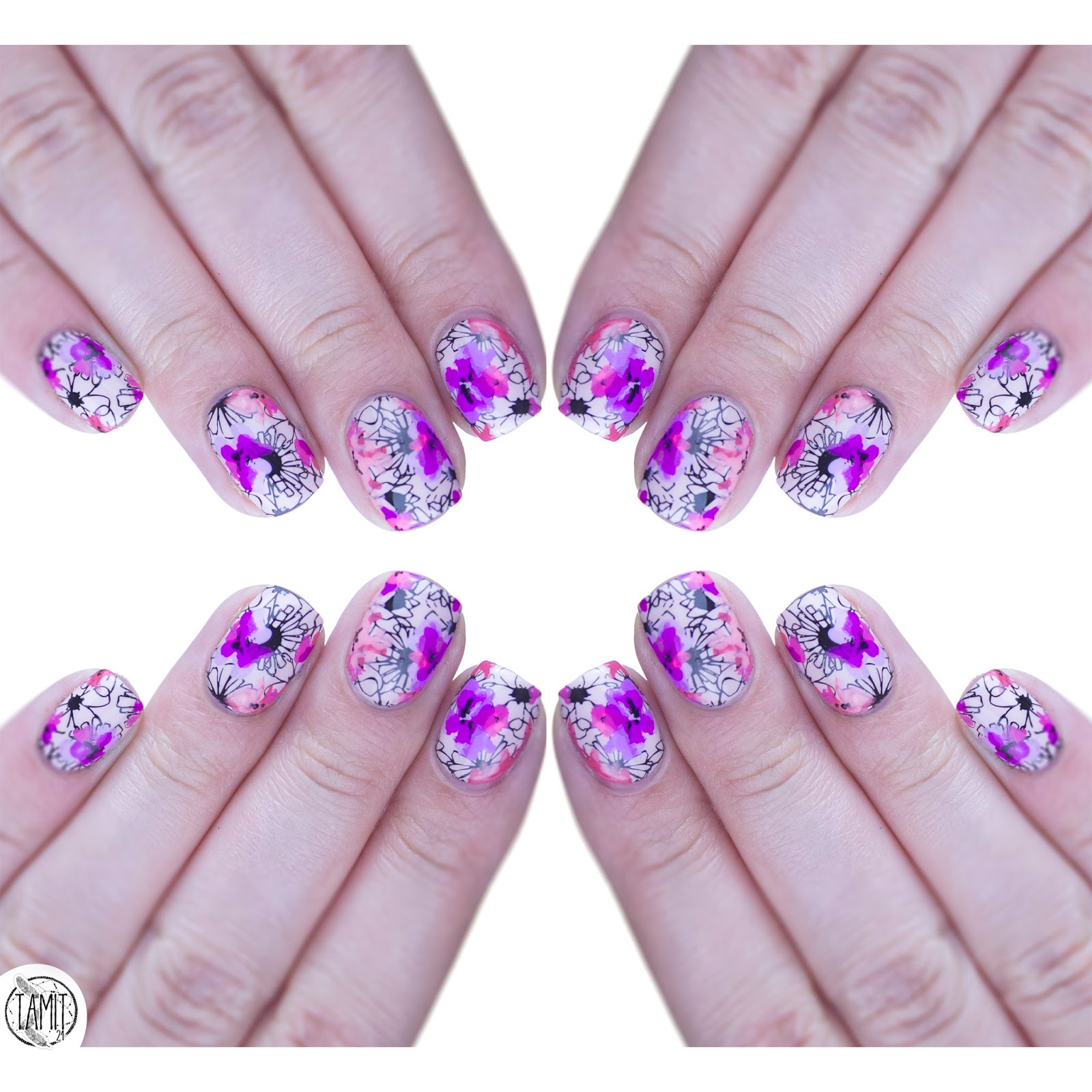 Floral Patch Nails B Loves Plates Fall In Nailove