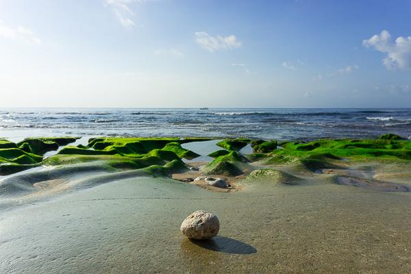 Bali beach stone zen