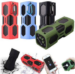 NFC Waterproof Bluetooth 4.0 Super Bass Speaker Portable 3600mAh Power Bank