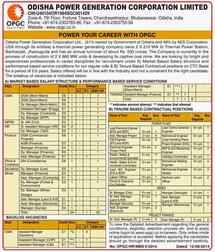 OPGC%2B-%2BIndGovtJobs Online Form Submit Govt Job on