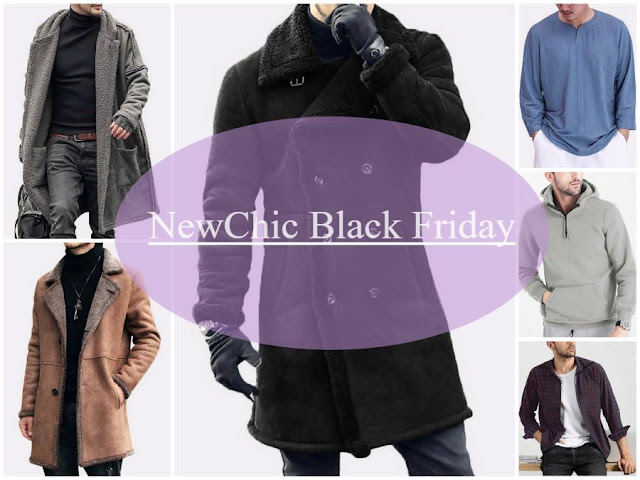 NewChic Black Friday. Fashion menswear trend gift