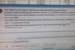 e-Faktur Tidak Dapat Upload Muncul Error ETAX-10003 : Input Ke Database Tidak Berhasil.