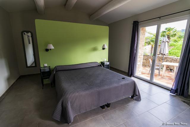 Hotel Le Pradinas, interior de habitación, Mialet - Francia, por El Guisante Verde