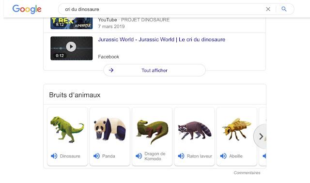 Google Easter Egg-Cri du dinosaure