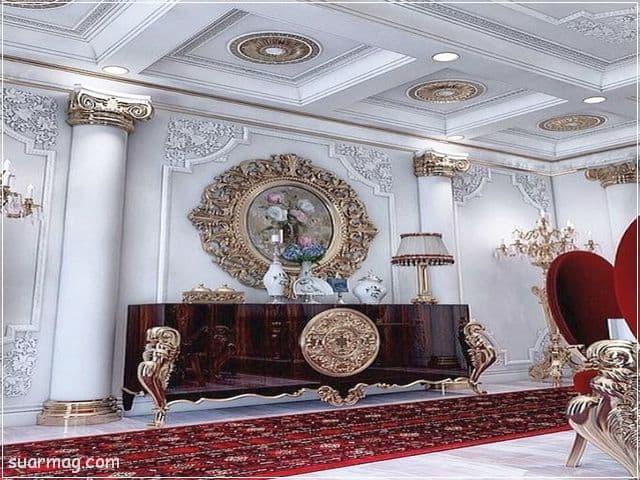 ديكورات جبس اسقف راقيه كلاسيك 12   Classic Gypsum Ceiling 12