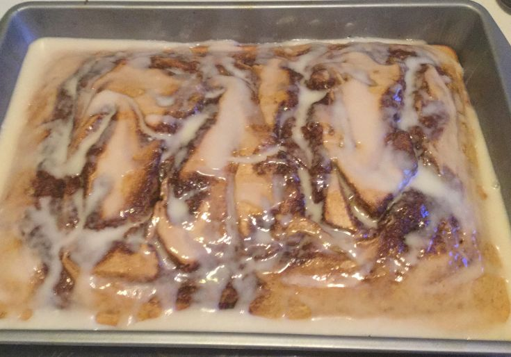 Countrified Hicks Cinnamon Roll Cake