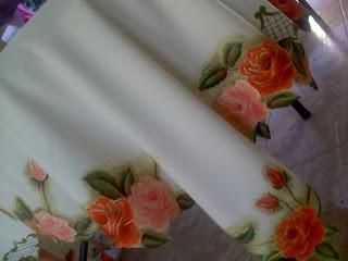 Pinturas En Tela Y Cuadros Hermoso Mantel De Rosas Pintado