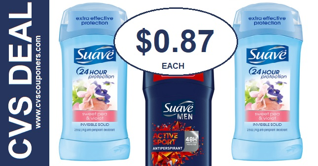 Suave Deodorant CVS Coupon Deal $0.87 818-824