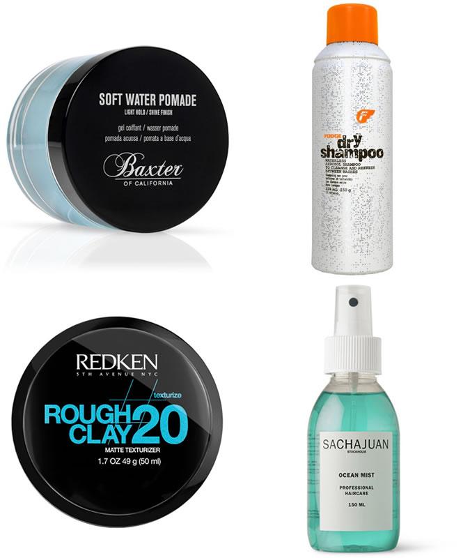 Produtos de cabelo para homens