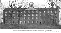Image of Randolph-Macon College, Boydton (undated postcard published by A.T. Snellings). Retrieved 2021 from Southern Virginia Homefront.