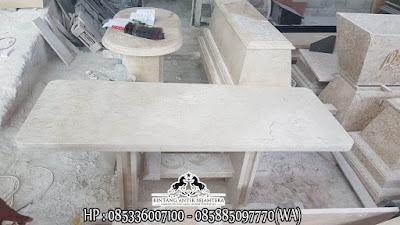 Meja Tamu Oval, Meja Tamu Dari Batu Marmer, Meja Marmer Minimalis