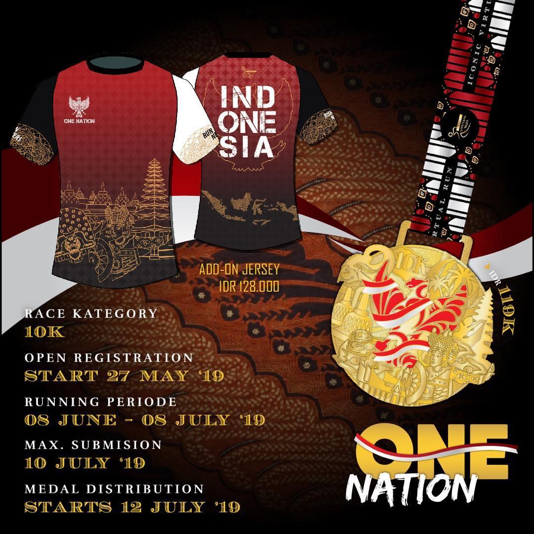 Iconic Virtual Run - One Nation • 2019