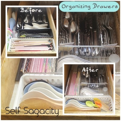 Organize Kitchen Drawer Tip Before After Thursday Two Questions