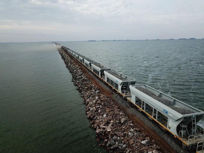 Estiman que a mitad de año se restablecerá el tránsito ferroviario sobre Laguna La Picasa